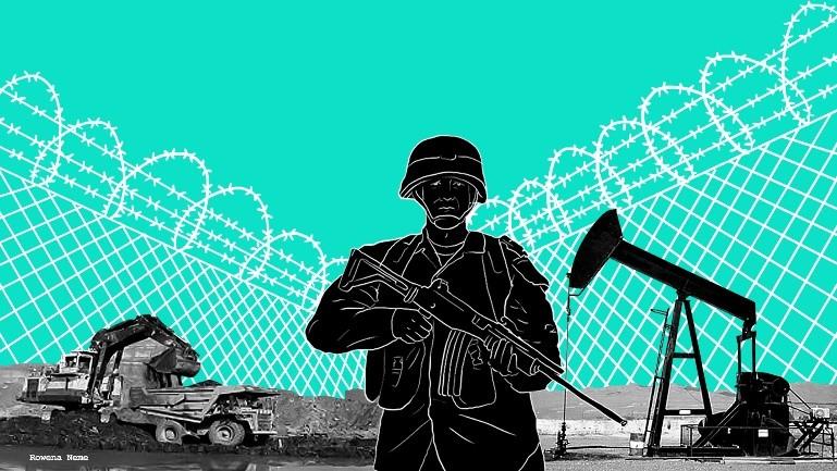 Erdöl- und Bergbaufirmen finanzieren die staatlichen Sicherheitskräfte und die Staatsanwaltschaft